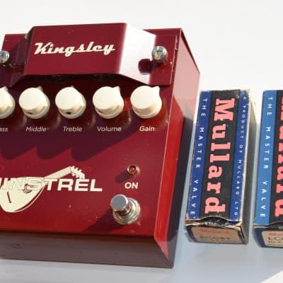 Kingsley Minstrel V1 Tube Overdrive - The BEST Minstrel ever made - 2 Mullard NOS - NO JFET inside! for sale