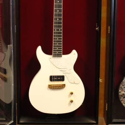 Margasa Joker Double Cutaway Guitar, Snow White for sale