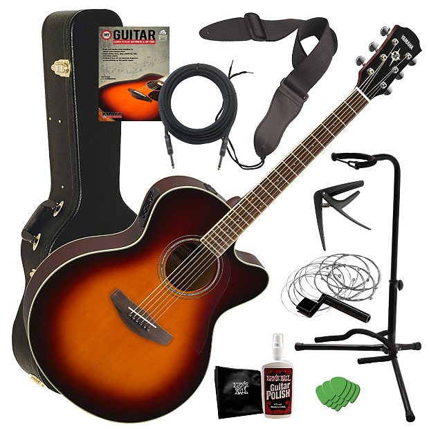 yamaha cpx600 acoustic electric guitar sunburst complete reverb