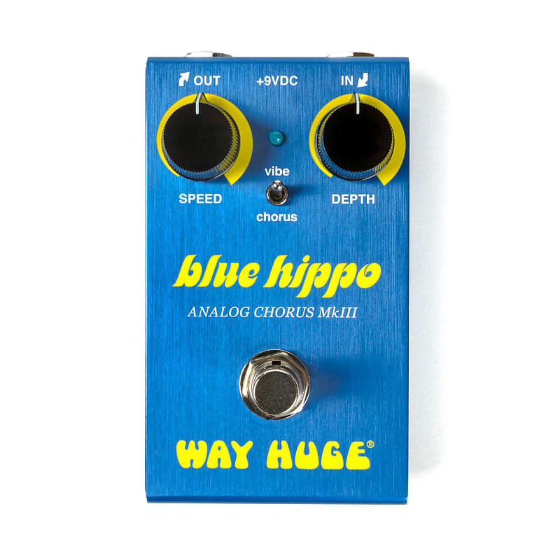 Way Huge WM61 Smalls Blue Hippo MKIII Mini Analog Chorus Effects Pedal