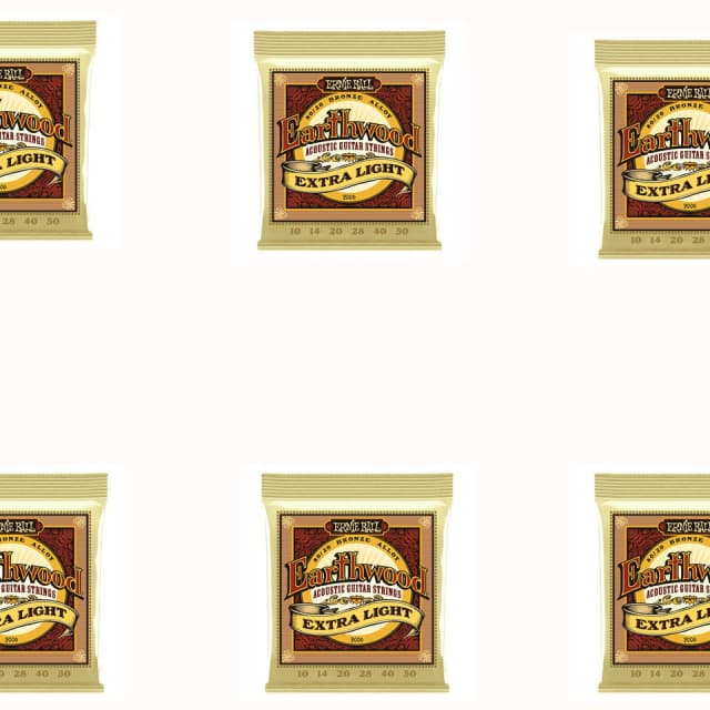 Ernie Ball 2006 Extra Light Earthwood 80/20 Bronze Acoustic Guitar Strings 6 Pack Special image