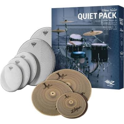 Zildjian Quiet Pack w/ L80 Low Volume Cymbals & Remo Silentstroke
