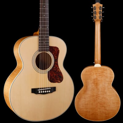 Guild Jumbo Junior Flamed Maple, Antique Blonde 251 3lbs 10.3oz for sale