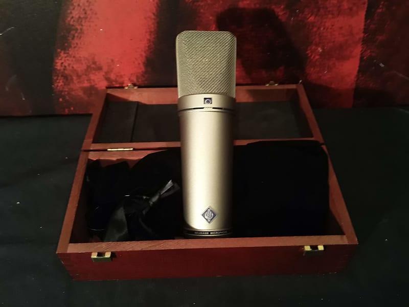 neumann u87 ai studio microphone with wood case reverb. Black Bedroom Furniture Sets. Home Design Ideas