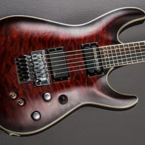 Schecter C-1 Platinum FR S Sustainiac w/ Floyd Rose Crimson Red Burst Satin
