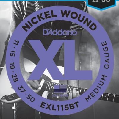 D'Addario EXL115BT Nickel Wound Electric Guitar Strings, Balanced Tension Medium, 11-50