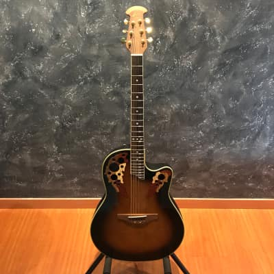 Ovation Celebrity CS247 Brown Burst Gloss Finish Acoustic Electric Guitar