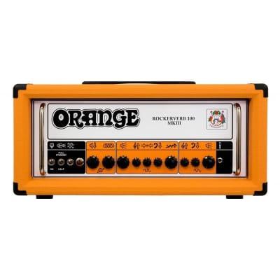 Orange RK100H MKIII Rockerverb 100 Head Orange + Footswitch + Cover + Cable Bundle for sale
