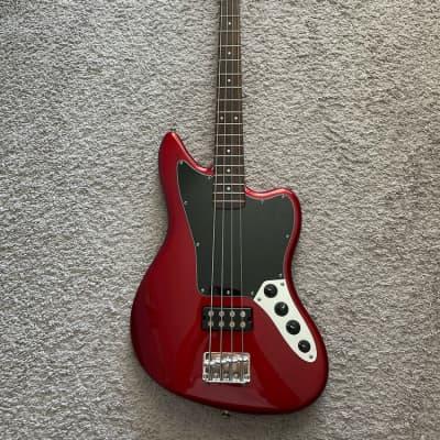 Squier Fender Vintage Modified Jaguar Bass Special HB SS 2011 Crimson Red 4-String