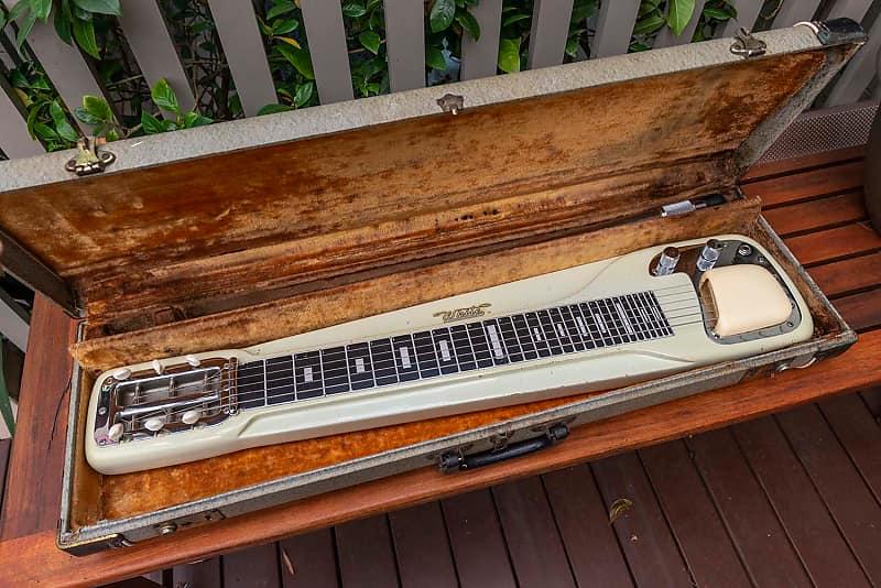 Fender White Studio Deluxe Lap Steel Guitar 1950s Reverb