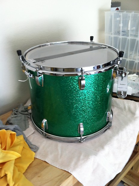 Ludwig 12 X 15 Marching Snare Drum 1980 1990 S Green Reverb
