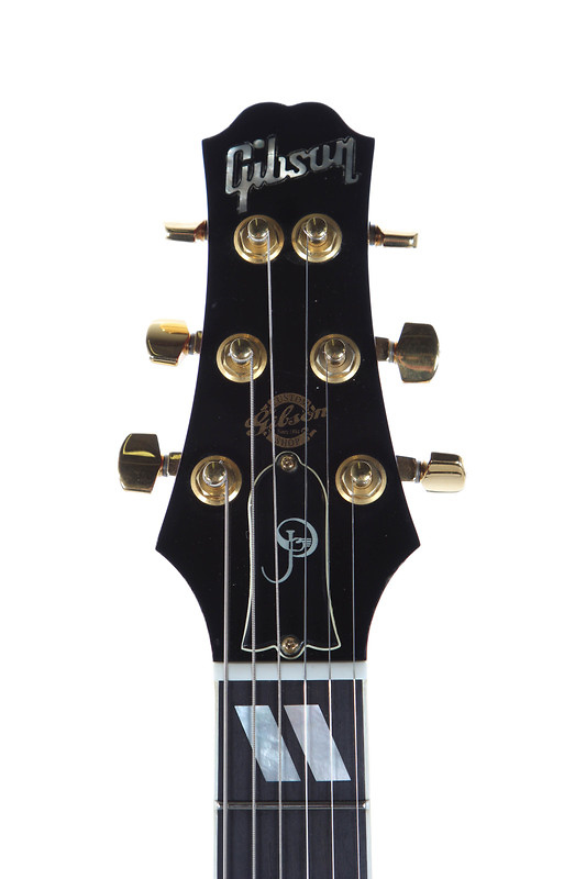 Gibson Paul Jackson Jr. signature model headstock with overtly concave edges.