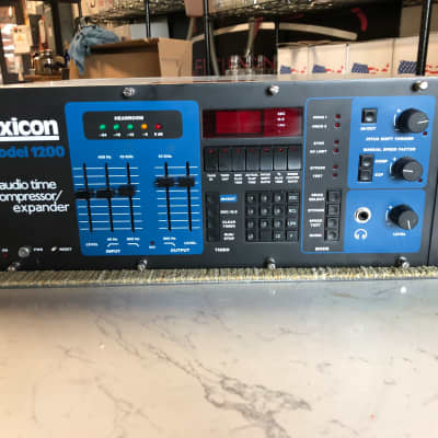 Lexicon 1200 Audio Time Compressor / Expander Salvage 1980s Black / Blue