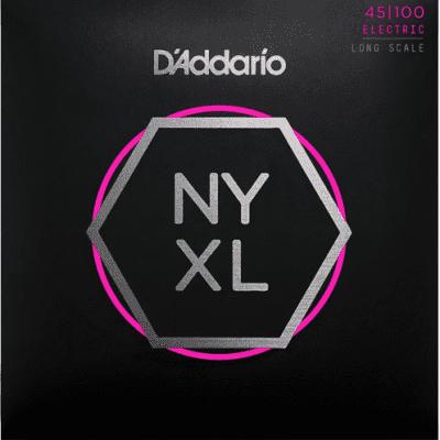 D'Addario NYXL45100 Nickel Wound Regular Light Bass Strings 45-100