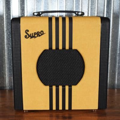 "Supro Delta King 8 All Tube 1 Watt 8"" Guitar Combo Amplifier Tweed Black 1818TB"
