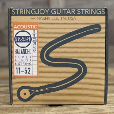 Stringjoy Naturals - Super Light Gauge (11-52) Phosphor Bronze Acoustic Guitar Strings