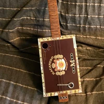 Toni-O 2005 3 string Cigar Box Guitar  Super-cool acoustic/electric slide guitar for sale