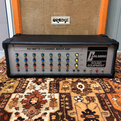 Vintage 1970s Carlsbro 100 Watt 100w 7 Channel PA Mixer Valve Amplifier Amp for sale