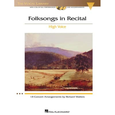 Folksongs in Recital: 14 Concert Arrangements - High Voice (w/ 2 CDs)