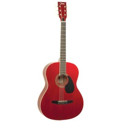 Johnson JG-100-SRD Student Dreadnought Acoustic Guitar, Sparkle Red