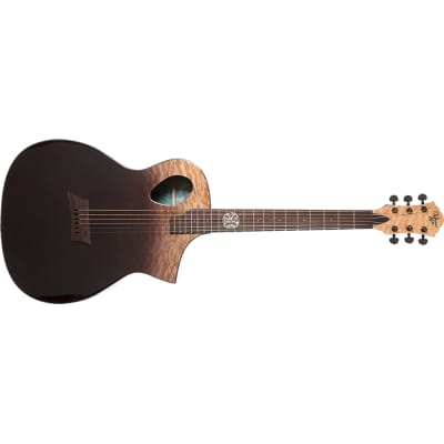 Michael Kelly MKFPQPESFX Forte Port X Acoustic Electric Guitar, Partial Eclipse Finish for sale