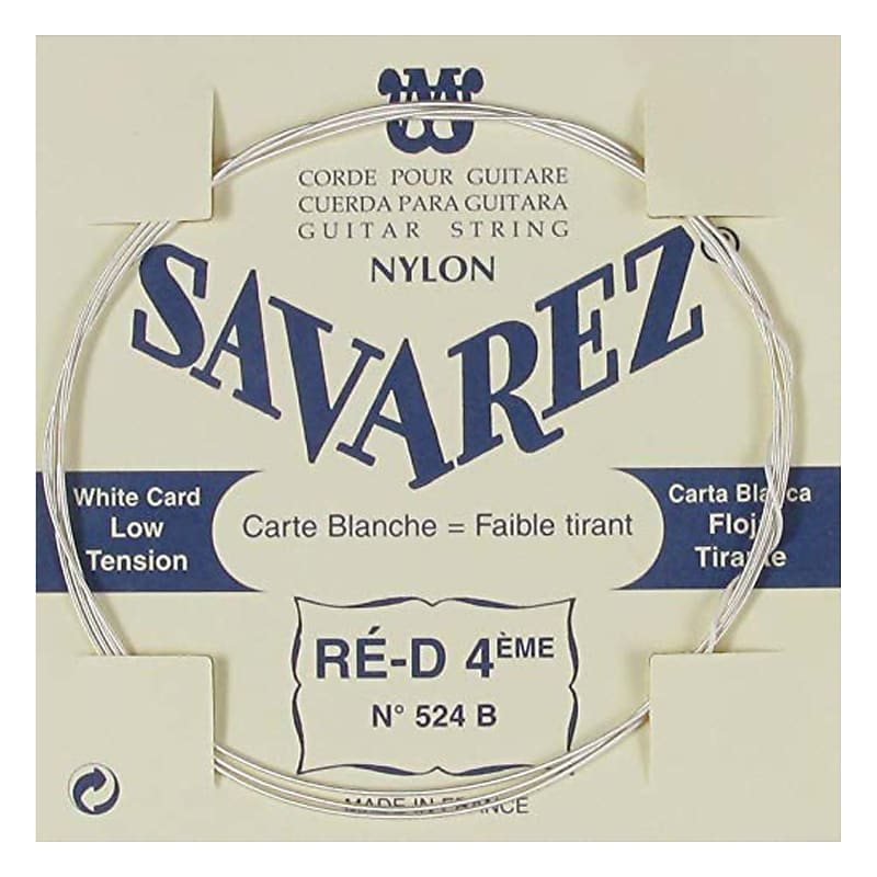 savarez traditional low tension white nylon guitar strings reverb. Black Bedroom Furniture Sets. Home Design Ideas