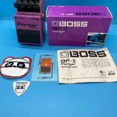 Boss BF-2 Flanger w/Original Box | Rare 1980s Green Label (Made in Japan) | Fast Shipping!