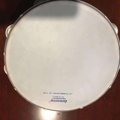 "Ludwig Metal Tambourine 1960s 98A 10"""