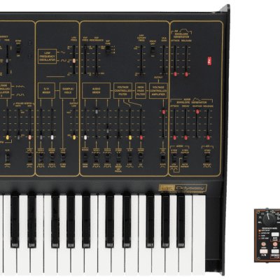 Korg ARP Odyssey FSQ full size 37 keys Synth Rev 2 Black/Gold w/SQ1 //ARMENS//