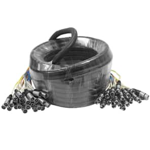 Seismic Audio SARLX-24x50 24-Channel XLR ColoRED Snake Cable - 50'