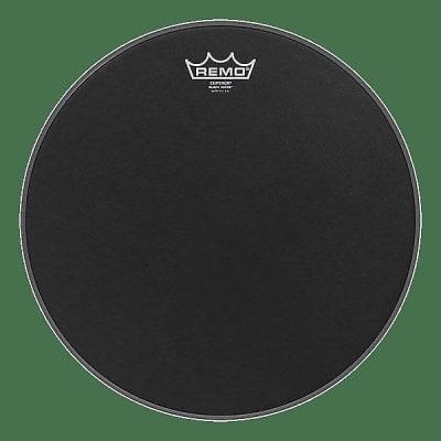 """Remo 10"""" Emperor Black Suede Drum Head w/ Video Link"""