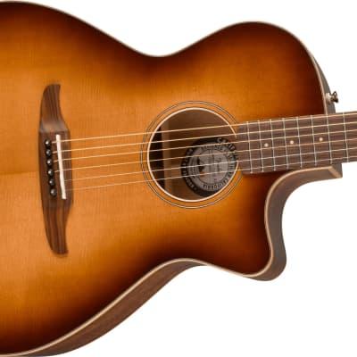 Fender Newporter Classic Acoustic Electric Guitar with Gig Bag, Pau Ferro Fingerboard, Aged Cognac Burst for sale