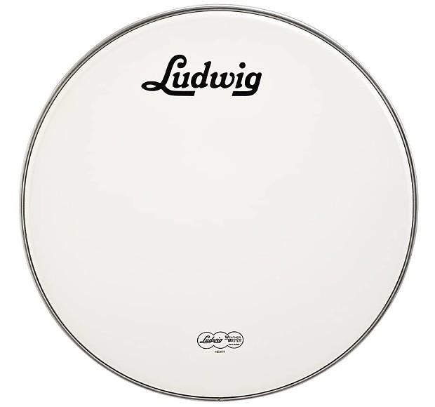 ludwig vintage logo 20 bass drum head reverb. Black Bedroom Furniture Sets. Home Design Ideas