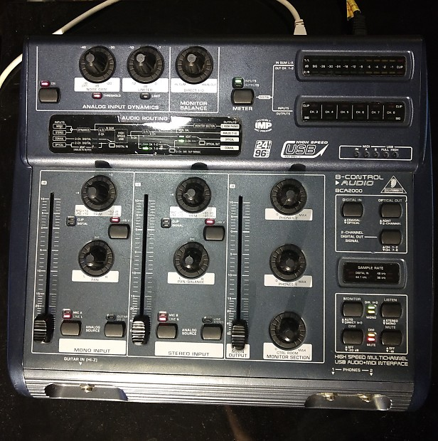 BEHRINGER BCA2000 ASIO DRIVERS FOR WINDOWS XP