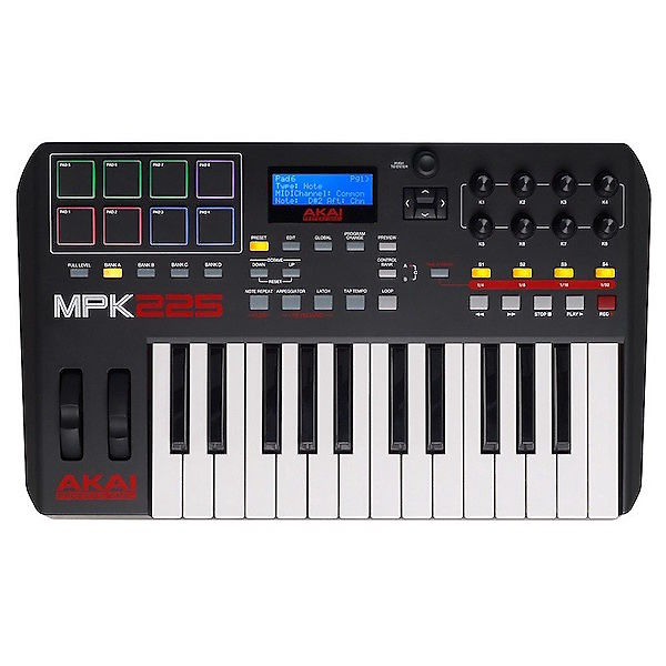 akai mpk225 midi keyboard controller reverb. Black Bedroom Furniture Sets. Home Design Ideas