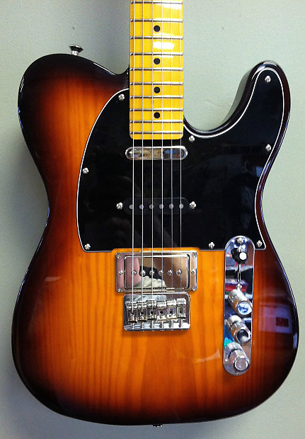 fender modern player telecaster plus honey burst w fat cat reverb. Black Bedroom Furniture Sets. Home Design Ideas