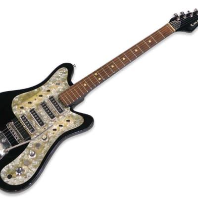 1989 MPO Caucasus (Kavkaz) USSR Stella 428P Stereophonic Guitar Black for sale