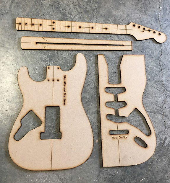 Guitar Building Templates 50\'s Strat Routing/Luthier | Reverb