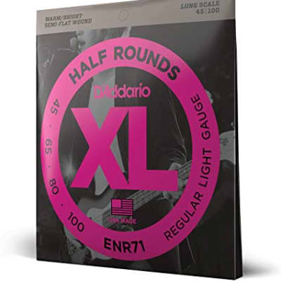 D'Addario ENR71 Half Round Regular Light Long Scale Bass Strings