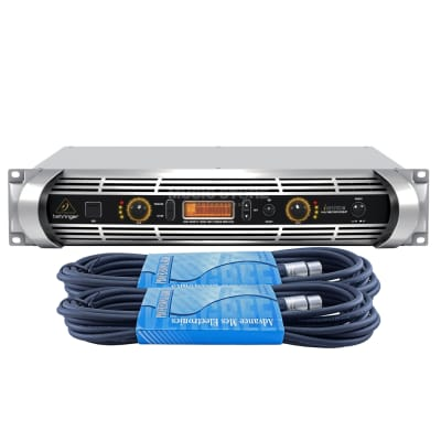 Behringer NU-12000-EU Ultra-Lightweight High-Density 12000-Watt Power Amplifier w/ 2 XLR Cables