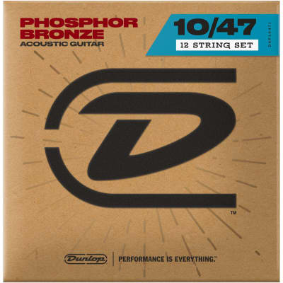Dunlop Acoustic Phosphor Bronze 12-String Guitar Strings 10-47, DAP1047J