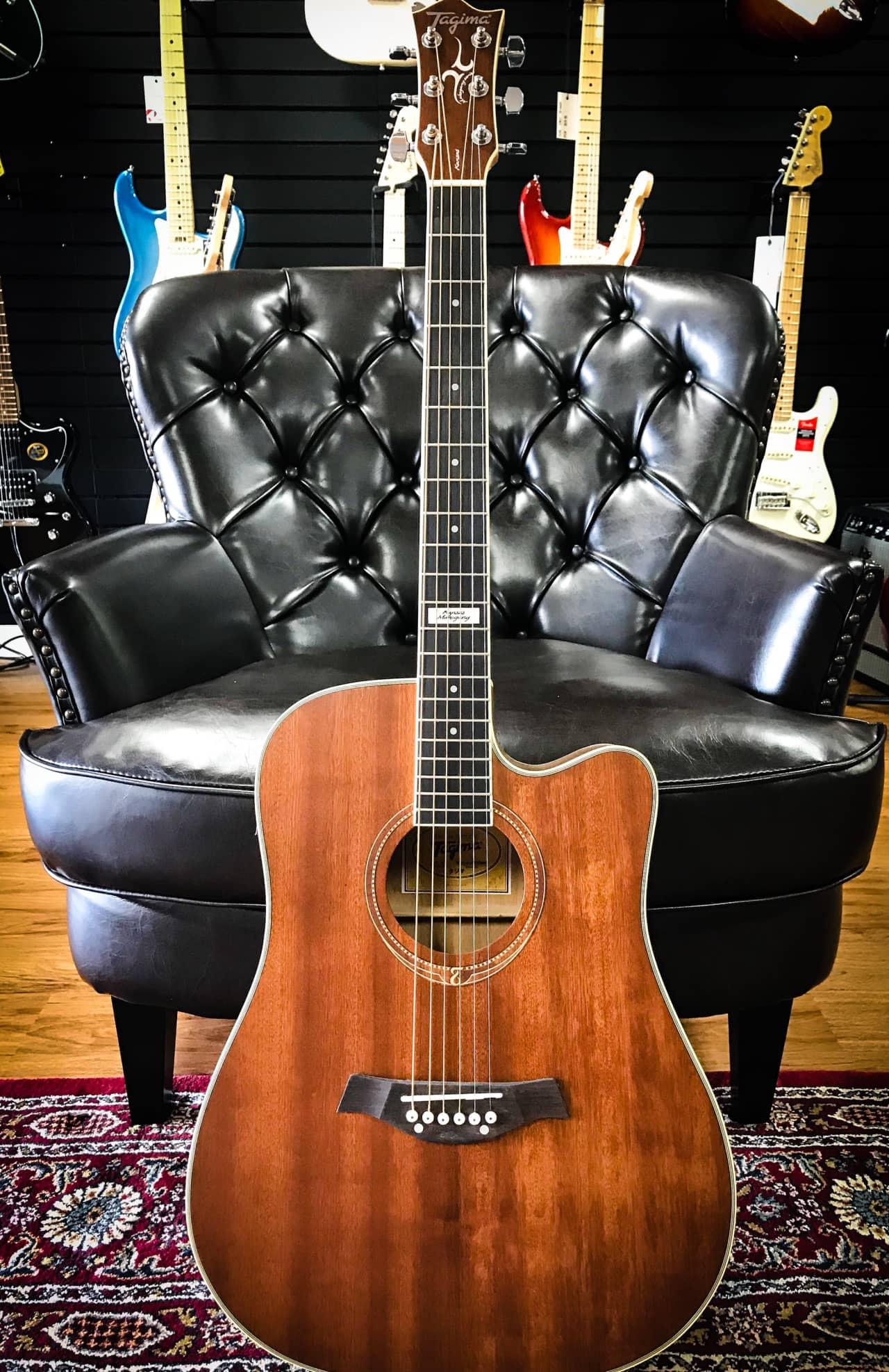 tagima kansas mahogany dreadnought steel acoustic reverb. Black Bedroom Furniture Sets. Home Design Ideas