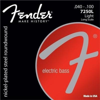 Fender 7250 Series Nickel Plated Bass Guitar Strings - Light | 7250L