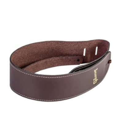 Gibson ASTR-BRN Troubador Acoustic Guitar Strap, Brown for sale