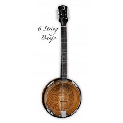 Luna Folk Series Celtic Six-String Banjo for sale