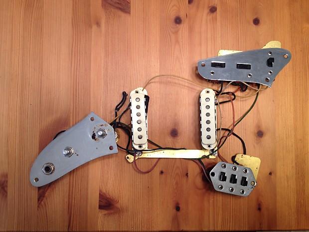 1964 fender jaguar pickups and complete wiring harness reverb 1964 fender jaguar pickups and complete wiring harness