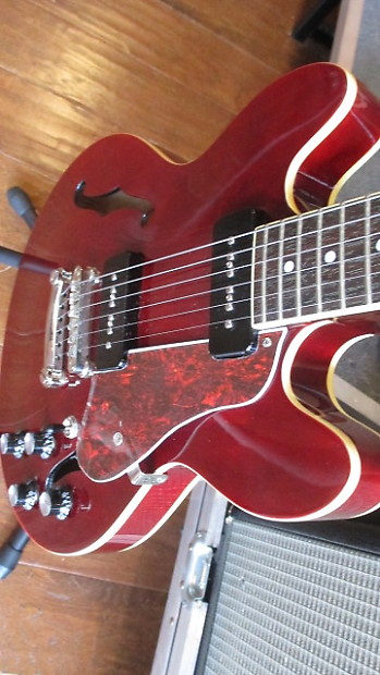 2015 epiphone es 339 p90 pro in cherry with epi hard shell reverb. Black Bedroom Furniture Sets. Home Design Ideas