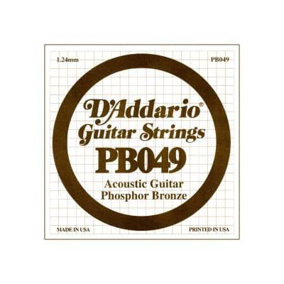 D'Addario Phosphor Bronze Acoustic Single String PB049