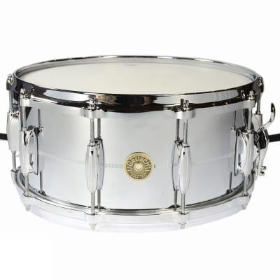"Gretsch G4164 USA Chrome Over Brass 6.5x14"" 10-Lug Snare Drum"