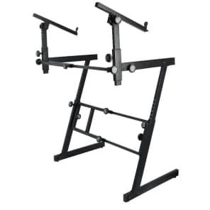 On-Stage KS7365-EJ Pro Heavy-Duty Folding-Z Dual Tier Keyboard Stand